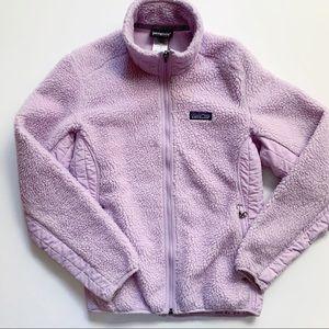 Patagonia• lavender fuzzy synchilla full zip
